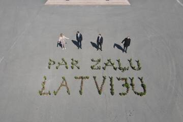 """Ziedu raksts """"Par zaļu Latviju"""" aizceļo uz Valdemārpili"""