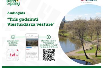 """Iepazīsti Rīgas parkus: """"Rīgas meži"""" izveidojuši audiogidu """"Trīs gadsimti Viesturdārza vēsturē"""""""